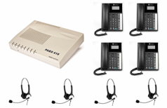 Orchid 416 telephone system with 4 Binaural Headset Included