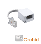 Orchid Cat 5e Data Cable Adapter to be used with Orchid Telephone Systems and Compatible Phones
