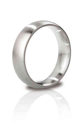 Mystim The Earl Brushed Steel Cock Ring