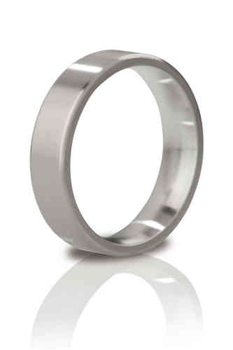 Mystim The Duke Brushed Steel Cock Ring
