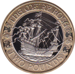2011 TWO POUND PROOF MARY ROSE