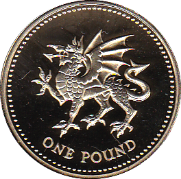 2000 ONE POUND PROOF WELSH DRAGON