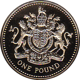 2003 ONE POUND PROOF ROYAL ARMS