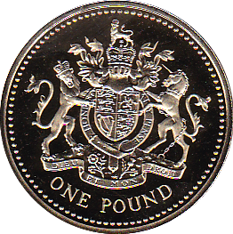 2008 ONE POUND PROOF ROYAL ARMS
