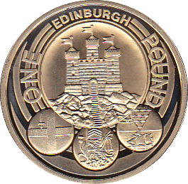 2011 ONE POUND PROOF EDINBURGH CITY