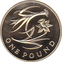2013 ONE POUND PROOF FLORAL WALES
