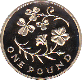 2014 ONE POUND PROOF FLORAL NORTHAN IRELAND