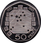 1992 FIFTY PENCE PROOF EC COUNCIL