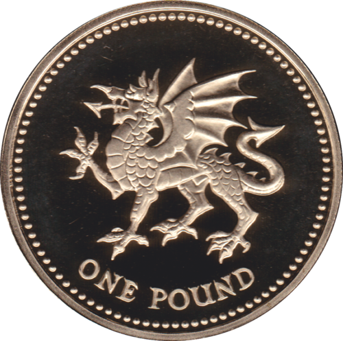 1995 ONE POUND PROOF £1 WELSH DRAGON