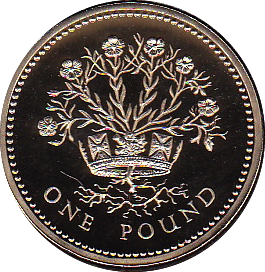 1991 ONE POUND PROOF £1 NORTHERN IRELAND FLAX