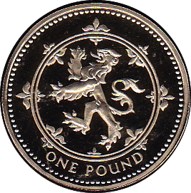 1994 ONE POUND PROOF £1 SCOTTISH LION