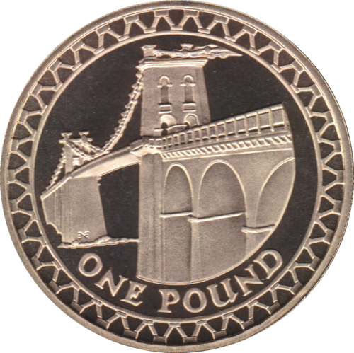 2005 ONE POUND PROOF £1 WALES MENAI BRIDGE