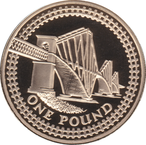 2004 ONE POUND PROOF £1 SCOTLAND FORTH BRIDGE