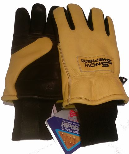 Snowshepherd Leather Ski Guide Pro Gloves Tan and Black