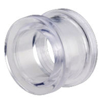 "CLEAR ACRYLIC FLESH TUNNEL - 3mm to 12mm (US 8g - 1/2"")"
