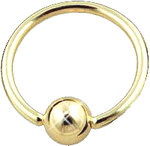 GOLD PVD COATED INJECTO STEEL BALL CLOSURE RING 1.6mm