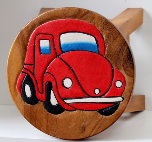 Red Car Stool