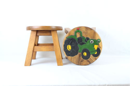 Green Tractor Stool
