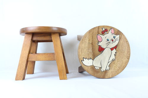 White Cat Stool