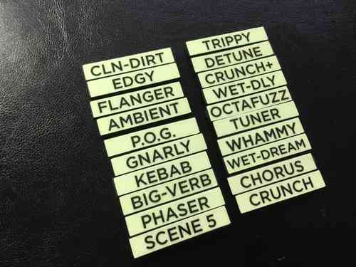 20 Custom Glow-in-the-Dark Text Labels