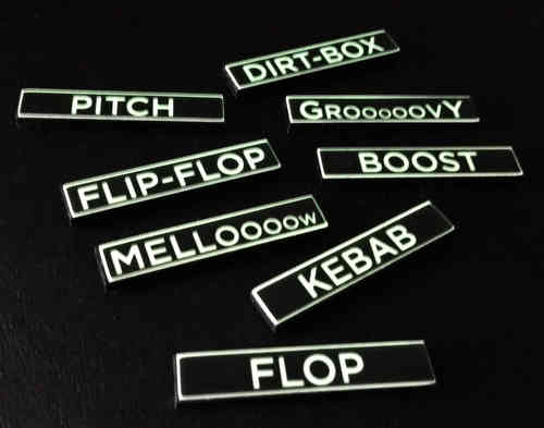 10 REVERSE PRINT Custom Glow-in-the-Dark Text Labels