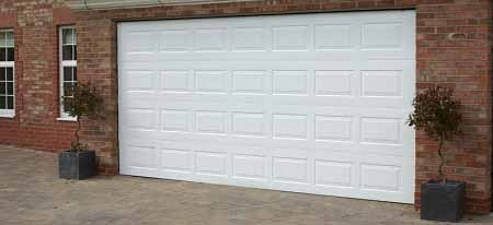 Gliderol Oxford sectional garage door fitted to a large double garage