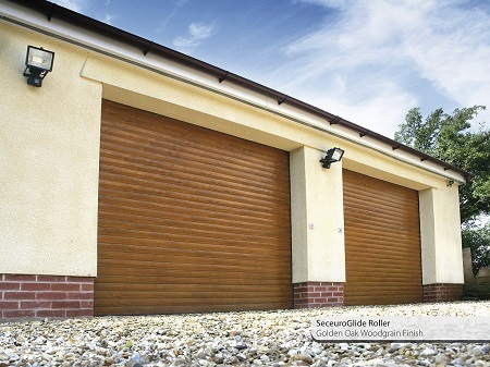 SeceuroGlide_roller_garage_doors_in_golden_oak