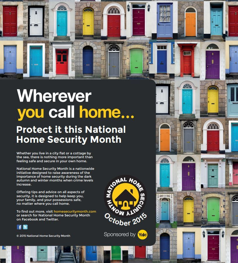 National Home Security Month Advertising Poster