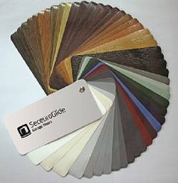 Seceuroglide colour swatch showing available garage door colours