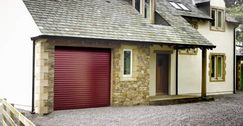 Seceuroglide Excel fitted to stone built garage