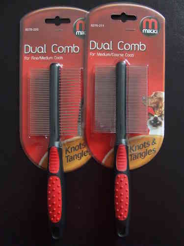 MIKKI - Dual Combs - Fine, Medium & Coarse Coats