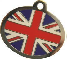 OVAL - Union Jack Identification Tag