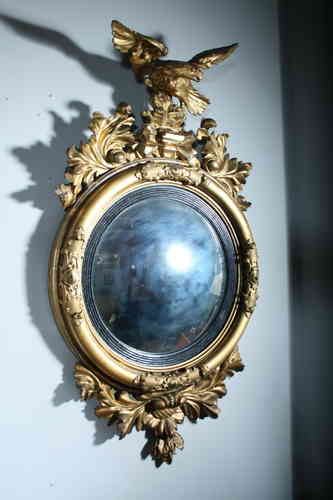 Regency Giltwood Convex Mirror SOLD