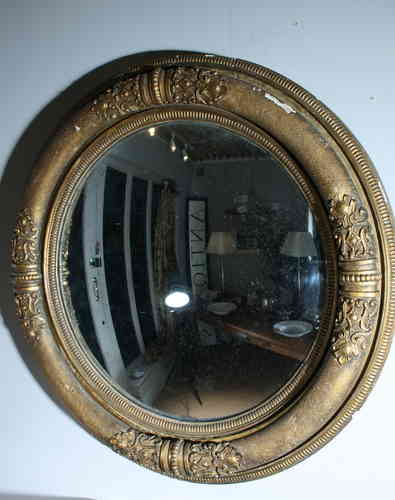 Massive Regency Convex Mirror SOLD