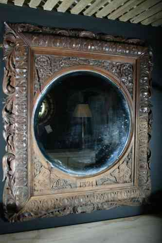 Country house oak mirror SOLD