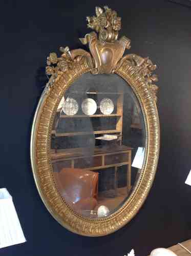 Large Oval Giltwood Mirror SOLD