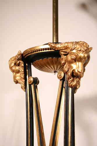 Neo classical rams head torchere converted to standard lamp SOLD