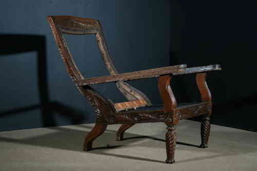 Antique Colonial 19th century Planters Chair from Ceylon