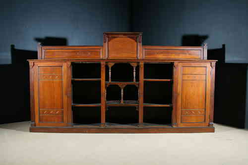 Large Walnut Aethetic Movement Bookcase