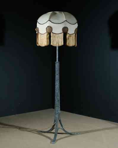 Large Pewter Floor Lamp in the manner of Voysey