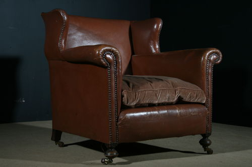 English Leather Club Chair SOLD