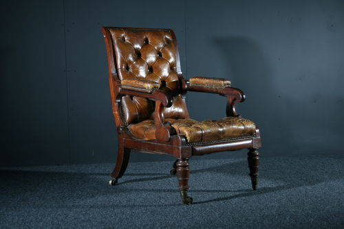 Georgian Mahogany Reclining Armchair SOLD