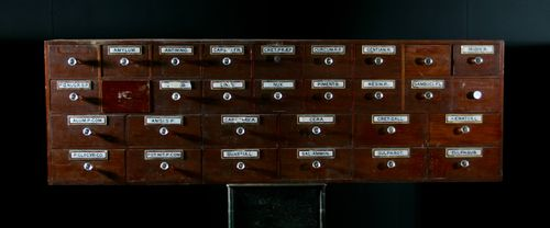Bank of Apothecary Drawers SOLD