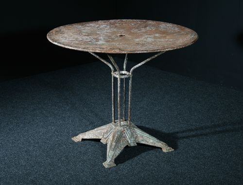 French Deco Iron Table