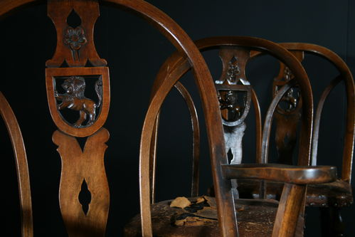 Unusual Set of Country Chairs SOLD