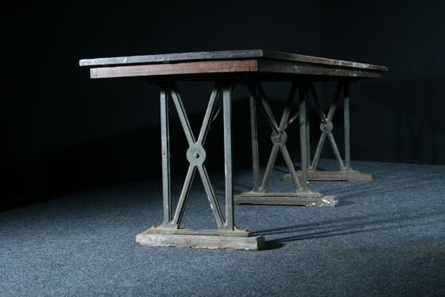 Industrial Oak and Iron Table SOLD