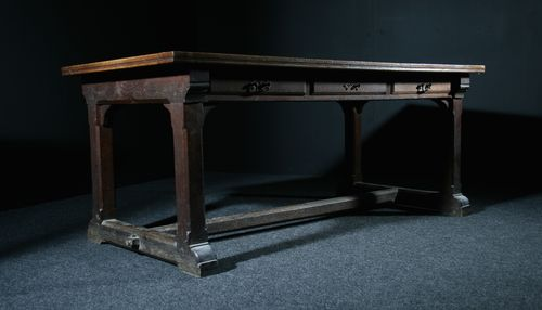 English Gothic Oak Library Table SOLD