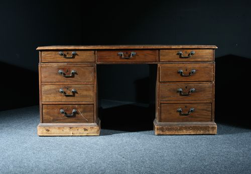 Georgian Mahogany Partners Desk SOLD