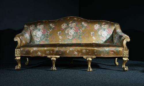 Large Gilded Country House Sofa SOLD