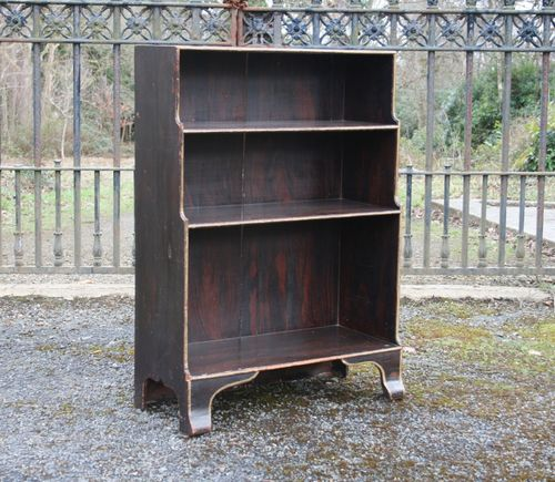 Regency Waterfall Bookcase in Original Paint SOLD